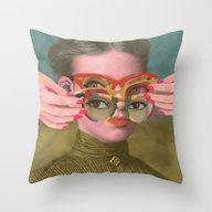 Throw Pillow featuring TRIFOCALS by Julia Lillard Art
