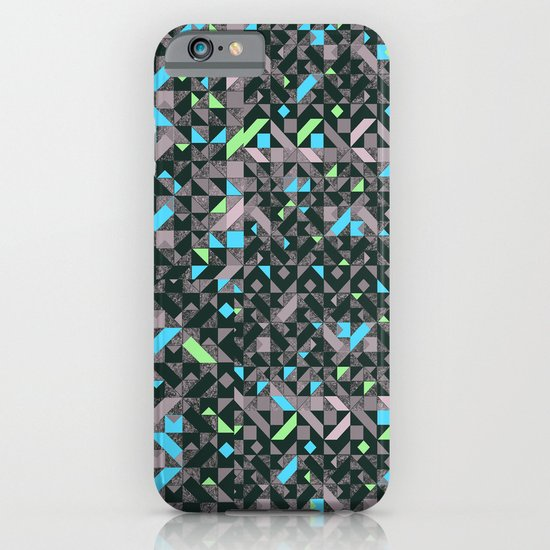 GEOMETRIC GREYS AND BLUES  iPhone & iPod Case