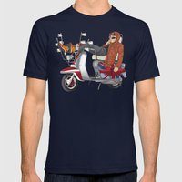 scooter is my soulmate Mens Fitted Tee Navy SMALL