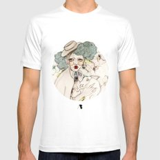 Mr. Rabbit...Wait! Please! Mens Fitted Tee White SMALL