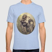 Gorilla in the Mist Mens Fitted Tee Tri-Blue SMALL