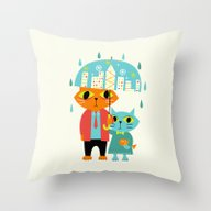 Throw Pillow featuring Rainy Day by Andy Westface