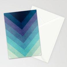 Retro Chevrons 001 Stationery Cards