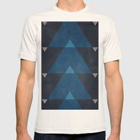 Greece Arrow Hues Mens Fitted Tee Natural SMALL