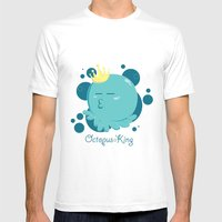 Octopus King Mens Fitted Tee White SMALL
