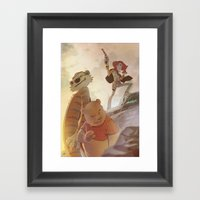 Cowboys, Tigers And Bear… Framed Art Print