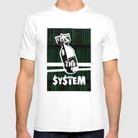 Bomb The System Mens Fitted Tee White SMALL