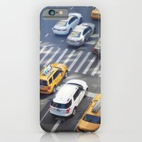 iPhone & iPod Case featuring NY Traffic by sparkofinspiration