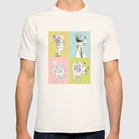 4 Little Animals Mens Fitted Tee Natural SMALL