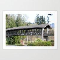 Bridge At The Falls Art Print