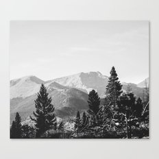 camping in the rockies .  Canvas Print