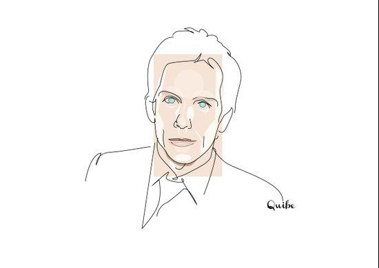 Portrait: Ben Stiller Art Print