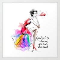 Woman Of Fashion Art Print