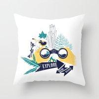 EXPLORE.DREAM.DISCOVER Throw Pillow