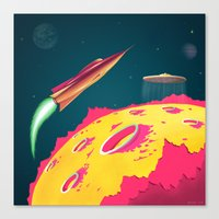 FLYING SAUCERS ATTACK Canvas Print