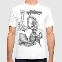 Fashion)  Mens Fitted Tee White SMALL
