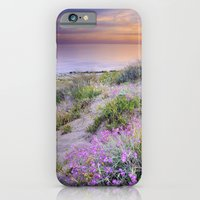 Sunset at the beach. Flowers on the sand. iPhone 6 Slim Case