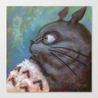 Totoro Canvas Print
