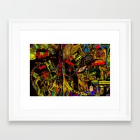 Flower Power And The Hip… Framed Art Print