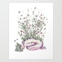 """From my rotting body, flowers shall grow, and I am in them, and that is eternity."" Art Print"