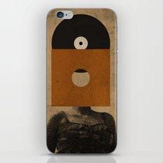 VINYL RECORD HEAD iPhone & iPod Skin