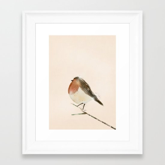 little robin Framed Art Print