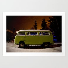frozen in lime (Curbside VW photo series) Art Print