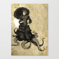 Lila, the tentacled lady Canvas Print