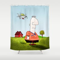Little UFO Shower Curtain