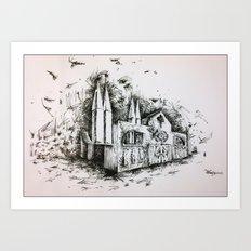 Fantastic architecture Art Print