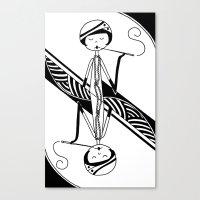 Playing Card - Joker Canvas Print