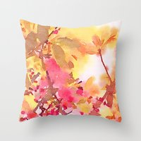 Cherry Blossom Canopy Throw Pillow