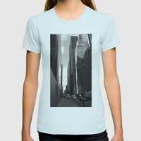 Reflection of the street Womens Fitted Tee Light Blue SMALL
