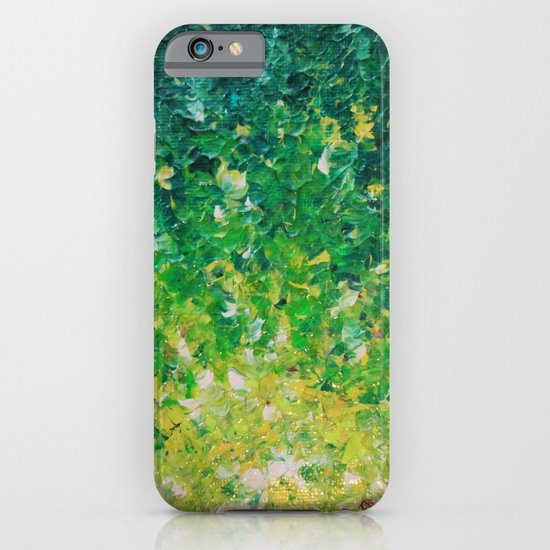 LAKE GRASS - Original Acrylic Abstract Painting Lake Seaweed Hunter Forest Kelly Green Water Lovely iPhone & iPod Case
