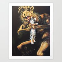 Alf Devouring His Cat Art Print