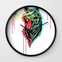 Tiger With F**king Lazer… Wall Clock