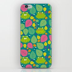 Frogs pattern iPhone & iPod Skin
