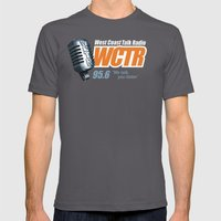West Coast Talk Radio Mens Fitted Tee Asphalt SMALL
