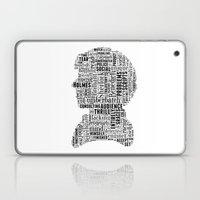 Sherlock BBC Benedict Cumberbatch Typography Silhouette Laptop & iPad Skin