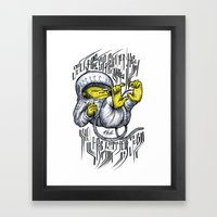 - Jou Are A Space Monkey… Framed Art Print