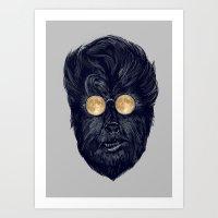 Moonglasses Silver Versi… Art Print