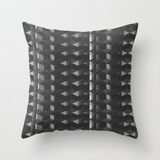 Burnt Out Noir Throw Pillow