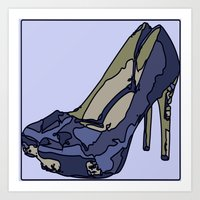 Blue sweet shoe -or....? Art Print