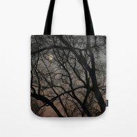 ghost moon Tote Bag