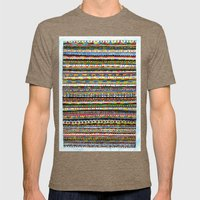 Colorful Mens Fitted Tee Tri-Coffee SMALL