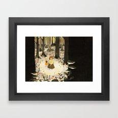 Sweet Porridge: Forest Scene Framed Art Print