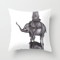 Dali's Dream Throw Pillow
