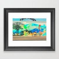 Coney Island Summer Mural Framed Art Print