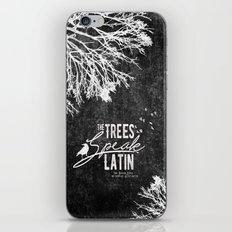 The Trees Speak Latin - Raven Boys iPhone & iPod Skin