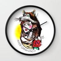 Chica Lobo Wall Clock